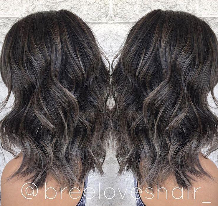 Smokey Ash Brown Balayage Hair Styles Brown Hair Balayage Brunette Hair Color