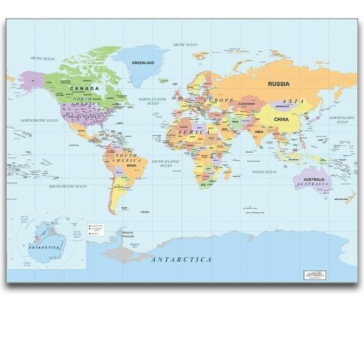 37 eye catching world map posters you should hang on your walls gumiabroncs Choice Image