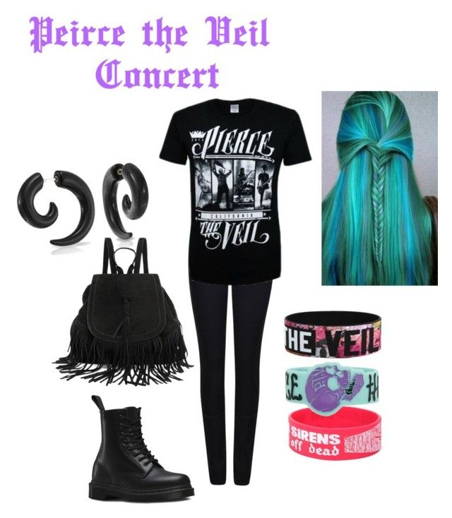 """""""Peirce the Veil Concert"""" by max-caulfield on Polyvore featuring Giorgio Armani, Dr. Martens, Bling Jewelry, women's clothing, women's fashion, women, female, woman, misses and juniors"""