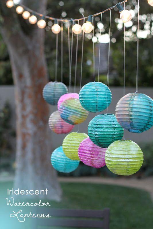 Four Flights of Fancy: Iridescent Watercolor Lanterns