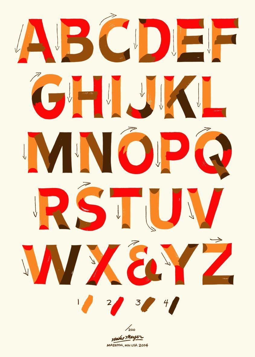 Signpainters Gothic Alphabet By Mike Meyer HttpBetterletters