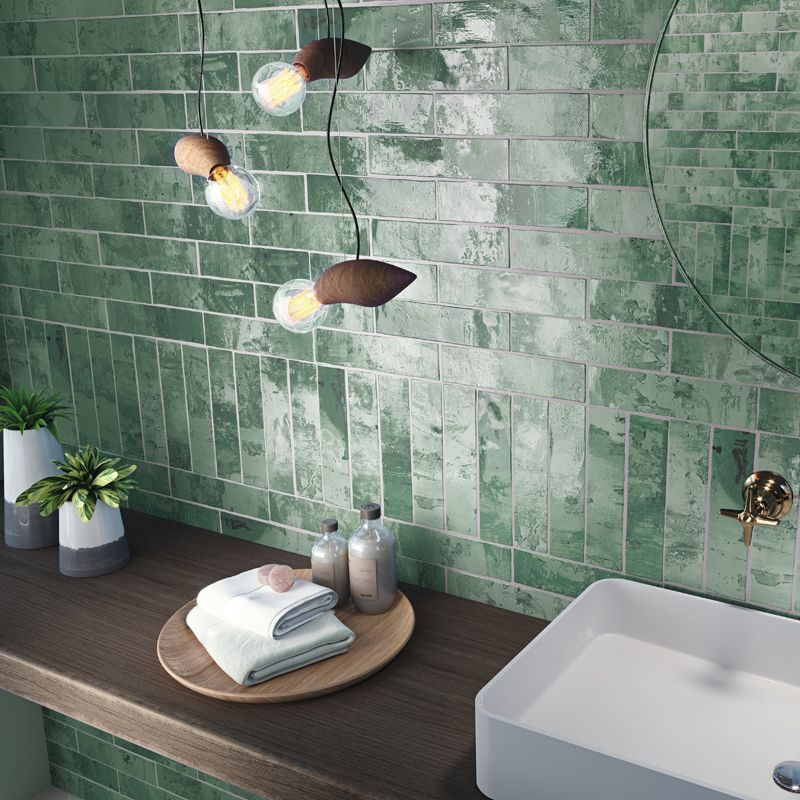 Snap 3 X 12 Wall Tile Green Pera Tile Wall Tiles White Wall Tiles Green Tile
