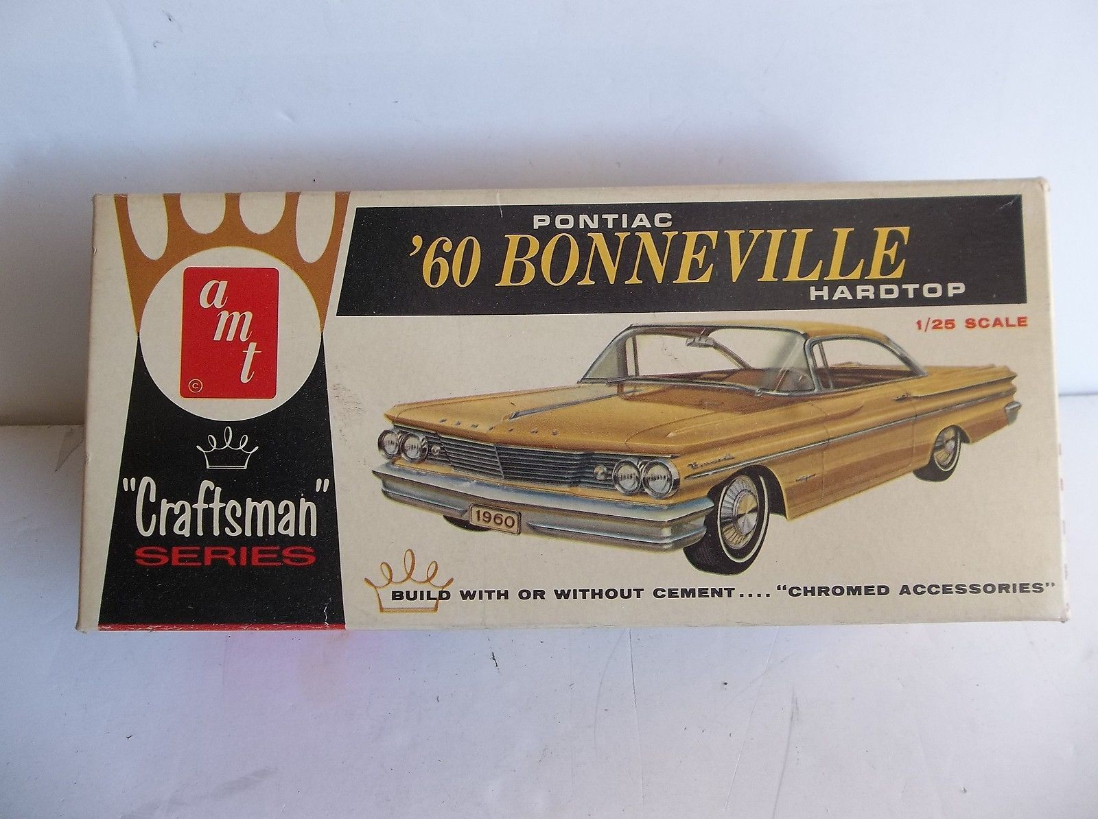 Vintage Model Kit Amt 1960 Pontiac Bonneville Nice Station Wagon In Toys Hobbies Models Kits Automotive Ebay