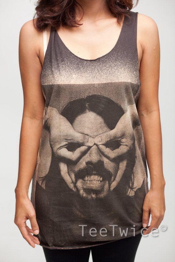 a99a715f9b02b Dave Grohl Shirt Foo Fighters Rock Band Shirts Women Tank Top Black Shirt  Tunic Top Vest Sleeveless Women T-Shirt Size S M