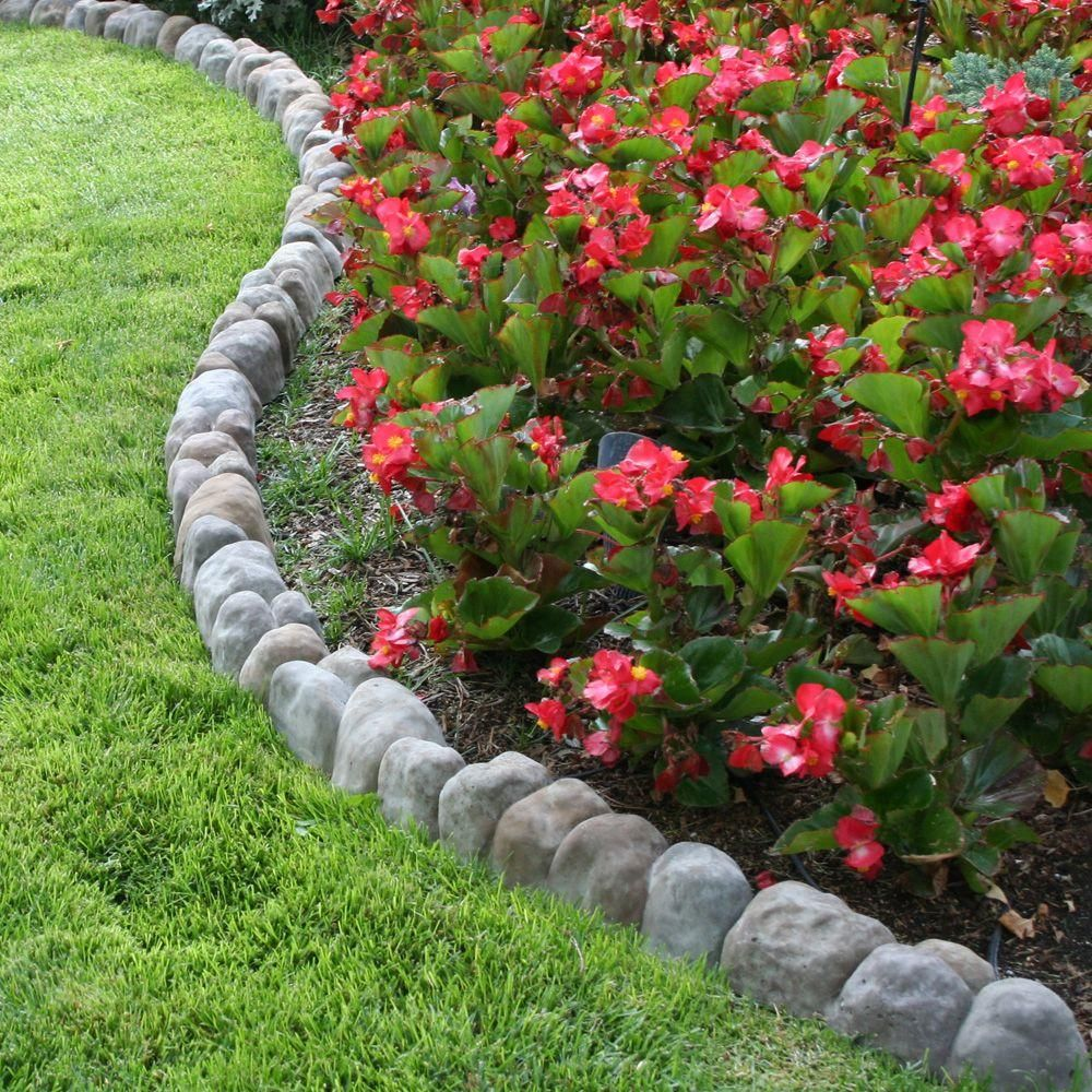 Landecor edgestone 4 in x 12 in x 3 in multi colored for Edging flower beds with edger