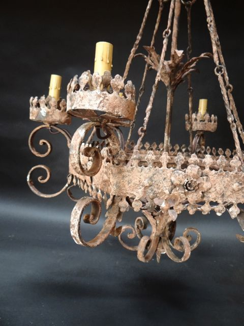 Mexican chandeliers mexican colonial hand cut six light tin and mexican chandeliers mexican colonial hand cut six light tin and wrought iron aloadofball Images