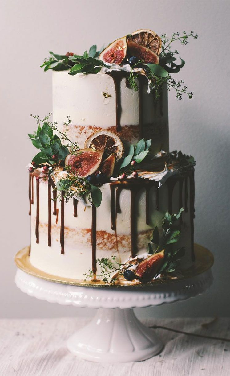 32 Jaw-Dropping Pretty Wedding Cake Ideas - Wedding cakes #weddingcake #cake #seminakedweddingcake