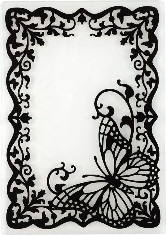 Butterfly Frame Embossing Folder by Hot Off The Press Inc (4106000) #butterflies