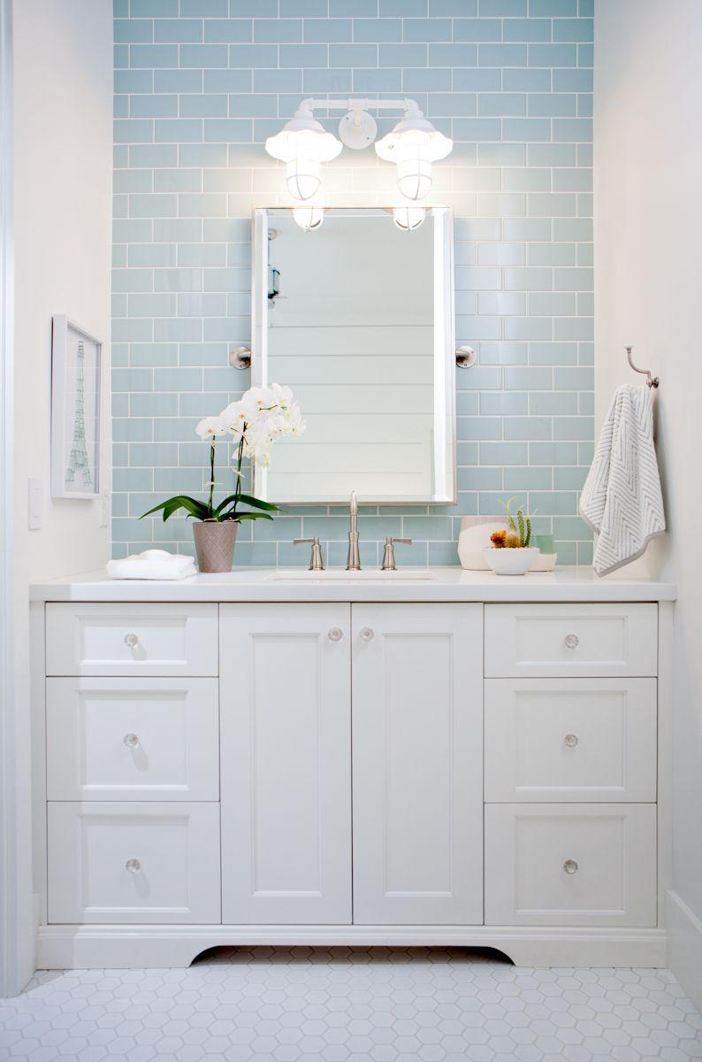 Jaimee rose interiors phoenix az interior designer - Light blue bathroom ideas ...