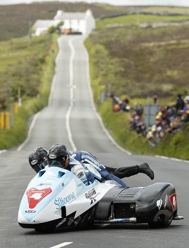Silicone Engineering race team bikes and sidecar at the 2014 Isle of