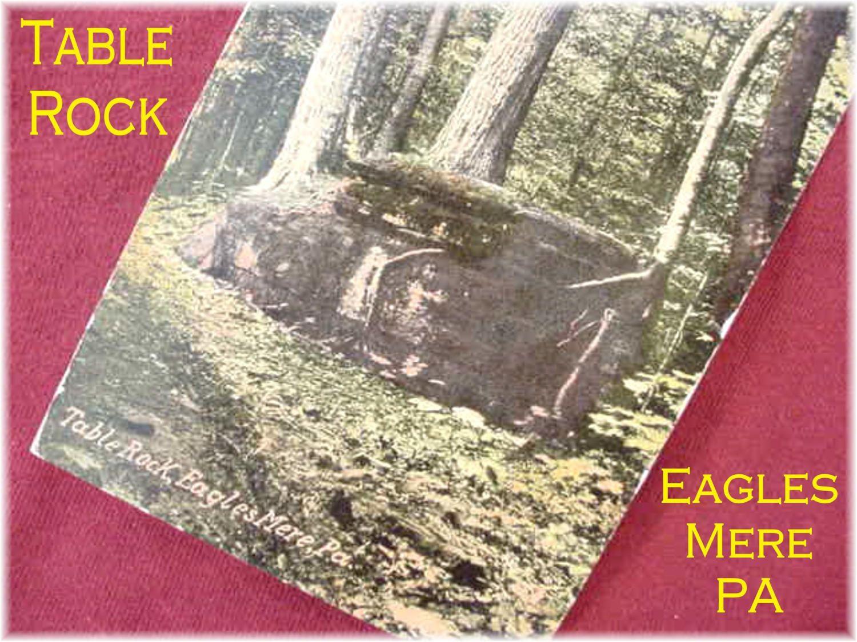 Eagles Mere PA - 1917 Postcard - Table Rock Laurel Path - Forest Creek Lake Beach Bathing - Near Williamsport Pennsylvania - FREE SHIPPING by FindMeTreasures on Etsy