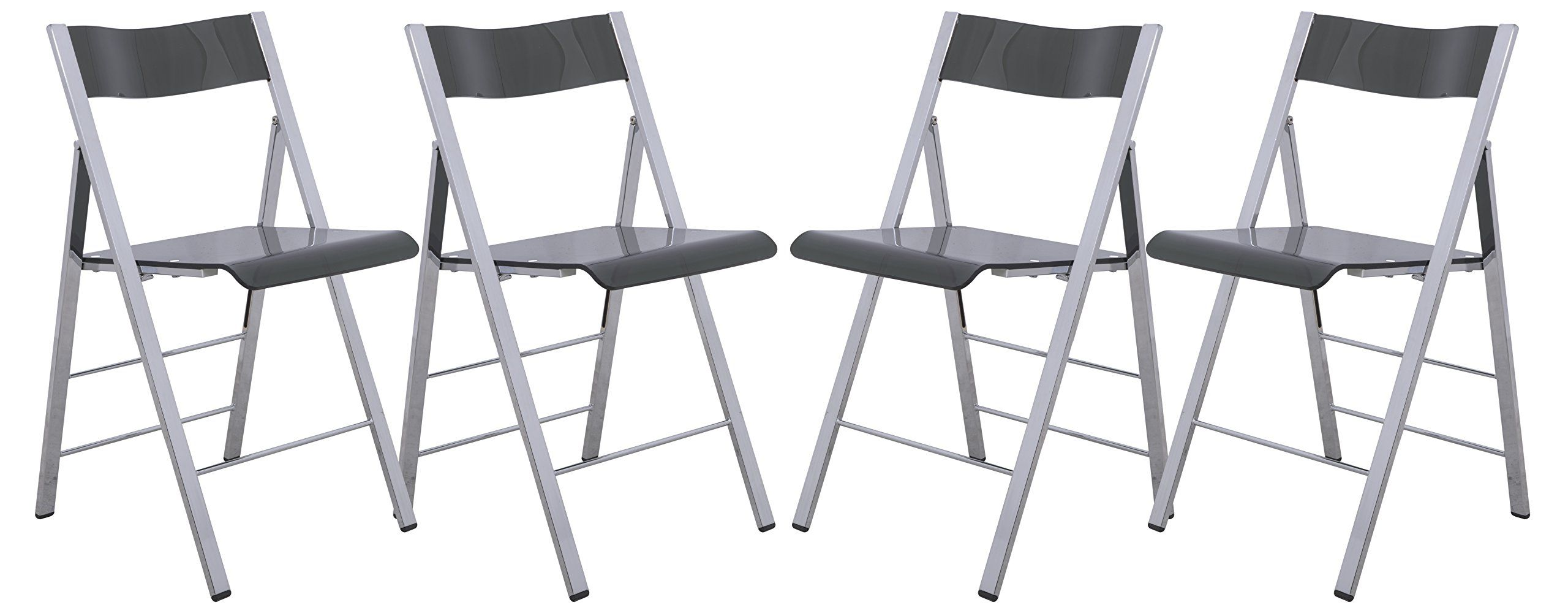 LeisureMod Menno Modern Acrylic Folding Chairs, Set Of 4    Awesome  Products Selected By