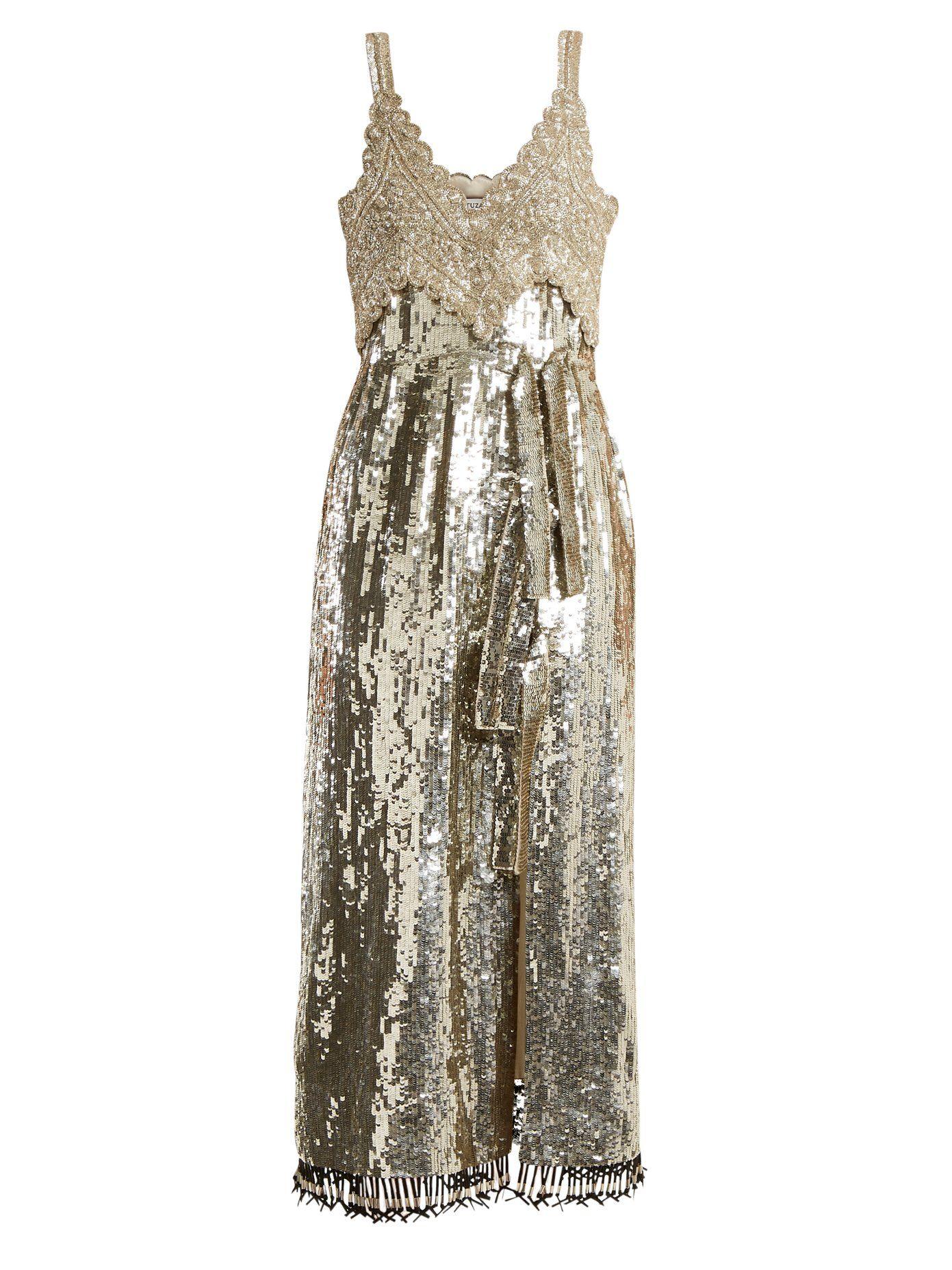 Elan sequin and bead-embellished silk dress Altuzarra Visit Online Discount Low Cost Big Sale For Sale With Mastercard Sale Online RStqP5