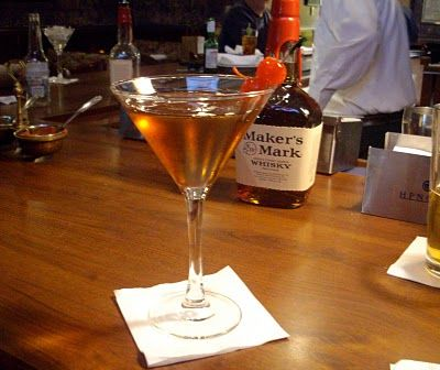 Greatest Drink In The World... Maker's Mark Manhattan @ Judith Land