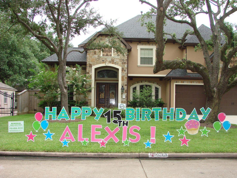Birthday Yard Signs Rentals