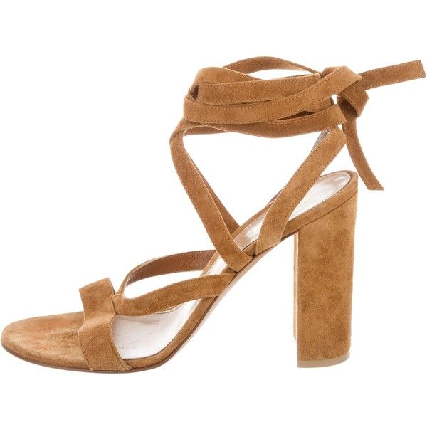 Gianvito Rossi Suede Wrap-Around Sandals discount extremely cheap sale under $60 cheap sale outlet clearance explore low shipping fee CDjKpvEYD