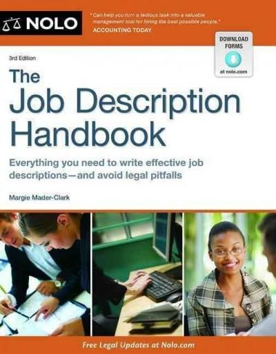 The Job Description Handbook  Human Resources    Job