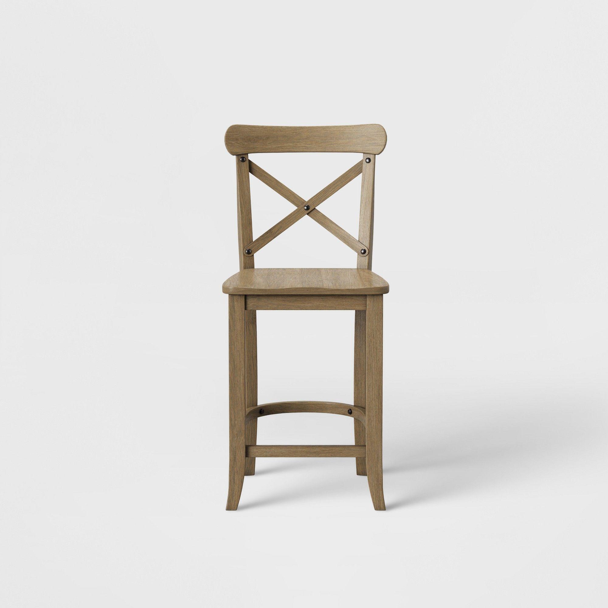 Tremendous 24 Litchfield X Back Counter Stool Driftwood Brown Creativecarmelina Interior Chair Design Creativecarmelinacom