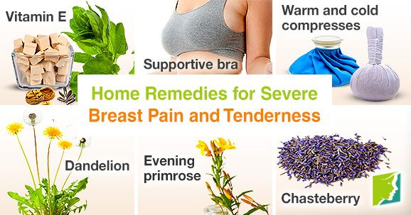 Home remedies for severe breast pain and tenderness