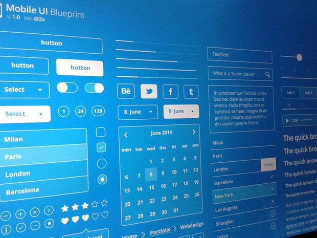 Freebie Mobile UI Blueprint    dlpsd freebie-mobile-ui - fresh blueprint computer programs