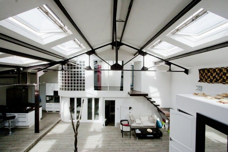 Hangar roof truss pinterest maison ossature metallique loft and maison - Maison hangar metallique ...