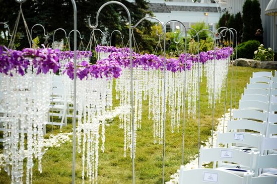 outdoor crystal wedding ceremony decorationhowever a clever bride knows that sometimes a photograph alone can spark that creative imagination and ideas