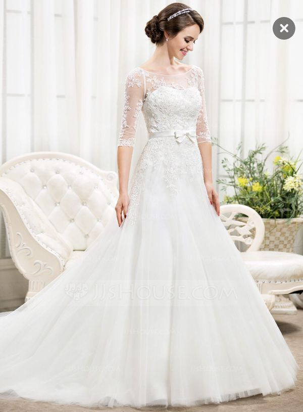 Wedding Dress With Train Size 2 For Sale In Austin Tx Offerup Cheap Wedding Dress Bridal Dresses Ball Gowns