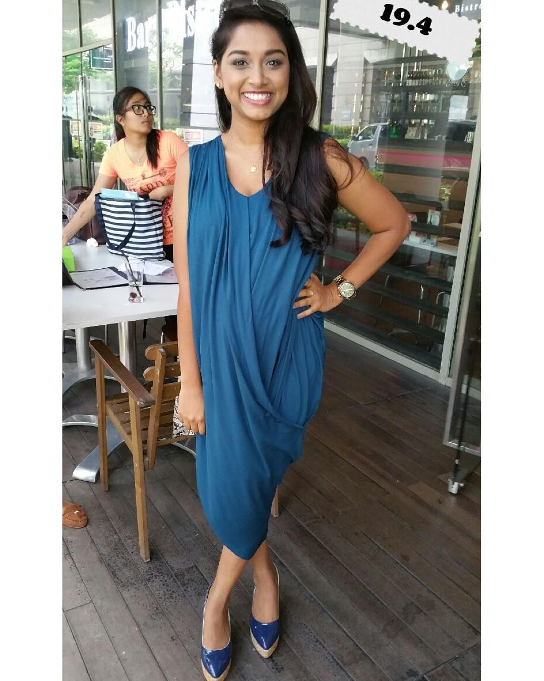 9ea668fa57ab1 Ms Se looks gorgeous in our maternity-nursing Art Greco Dress crafted in  luxurious bamboo ...