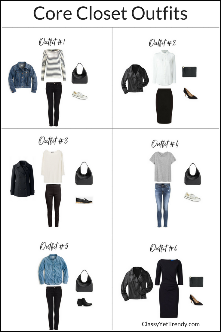 How To Create Outfits With A Core Closet  6 Outfit Ideas (Classy Yet ... e9150239e