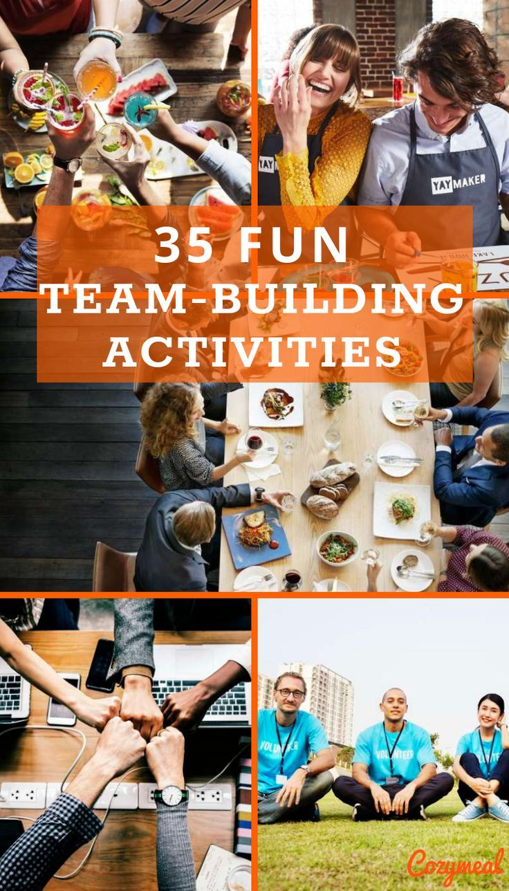 Coming up with fun team building activities for employees can be tricky, especially when typical team building activities tend to induce a chorus of groans and more eye rolls among employees than high-fives. Read on for 35 FUN #TeamBuilding activities!