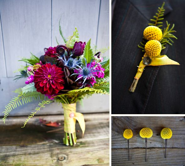 love the billy ball bout and the bright colors of the bouquet