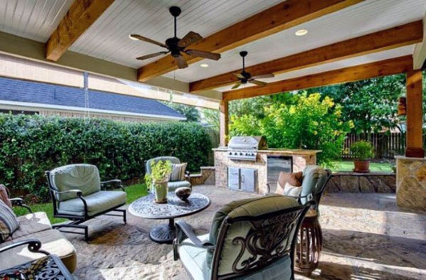 Top 50 Best Patio Ceiling Ideas Covered Outdoor Designs In 2020 Patio Ceiling Ideas Best Outdoor Ceiling Fans Patio Fan