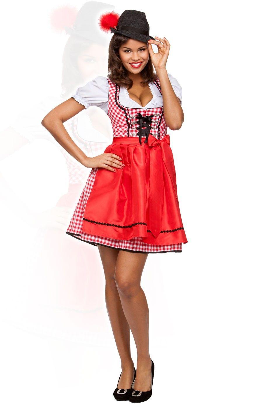 79b60be1756c German mini dirndl 2pcs. Judy2 red 50 cm oktoberfest dirndl ...