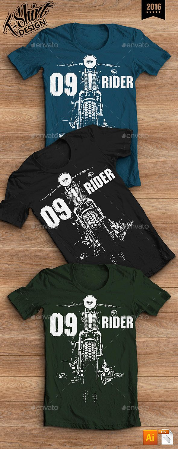 T-shirt Design Moto Rider | Shirt designs