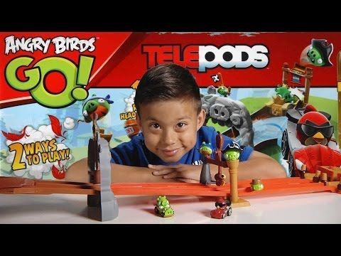 ANGRY BIRDS GO! Pig Rock Raceway TELEPODS Unboxing