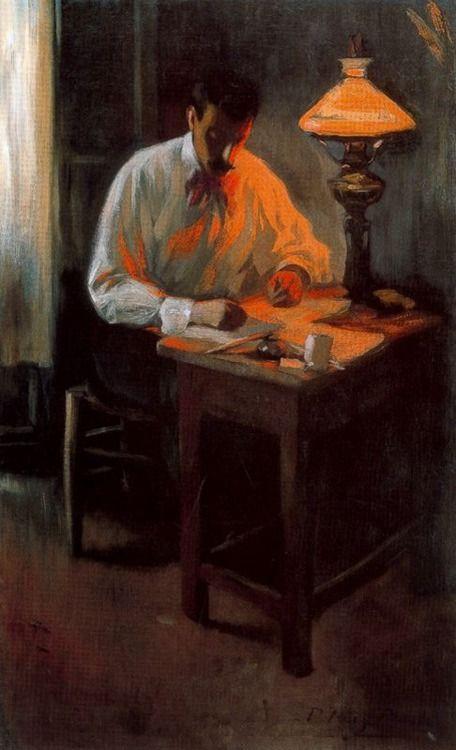 Pablo Picasso:  Portrait of Josep Cardona (1899)  www.artexperiencenyc.com