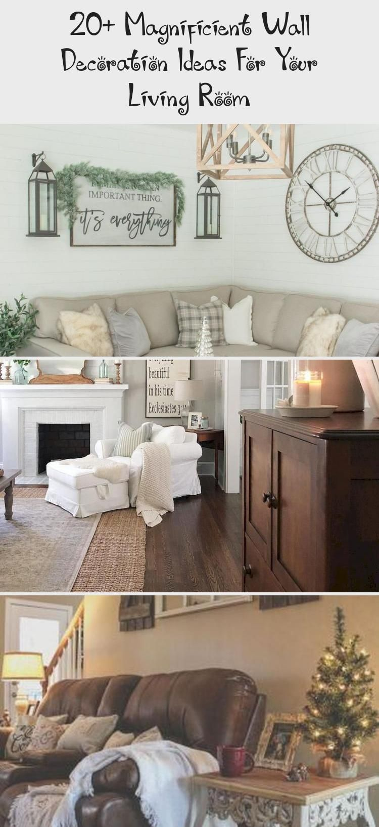 Photo of – If you want to know how to decorate a large living room wall, then have a look…