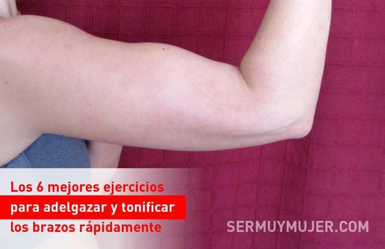 ejercicios para reducir espalda y brazos rapidamente