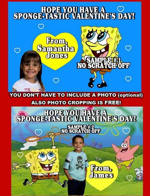 spongebob valentines day cards personalized - Spongebob Valentines Day Cards