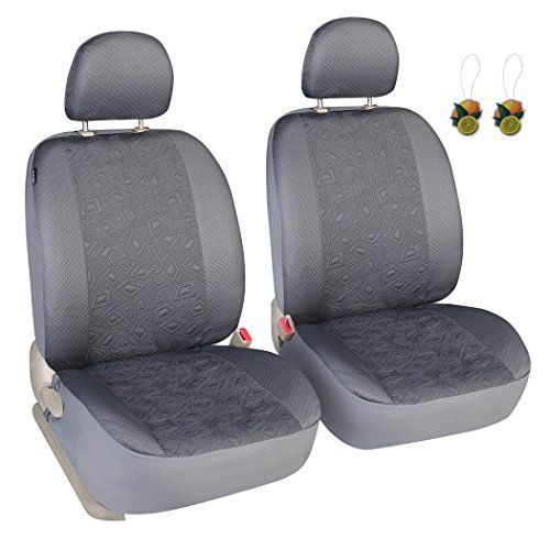 Stupendous Leader Accessories Auto Grey 2 Front Seat Covers Universal Uwap Interior Chair Design Uwaporg