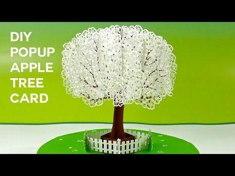 Pop-Up Paper Apple Tree Card (3D Sliceform Cutting files Pop up