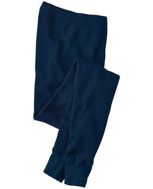Thermal Long John Pajama Pants In Organic Cotton from #HannaAndersson.