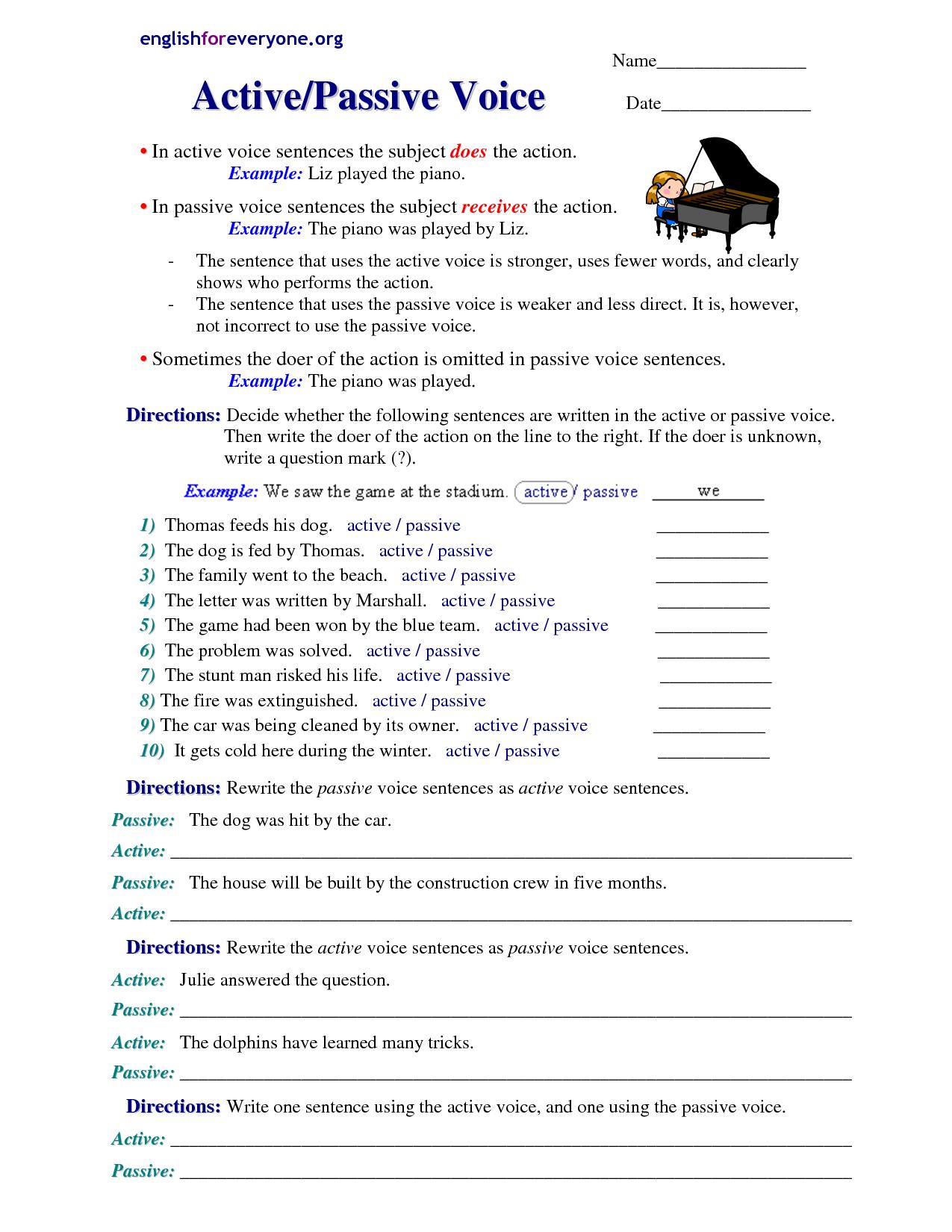 Com Category Grammar Passive Voice
