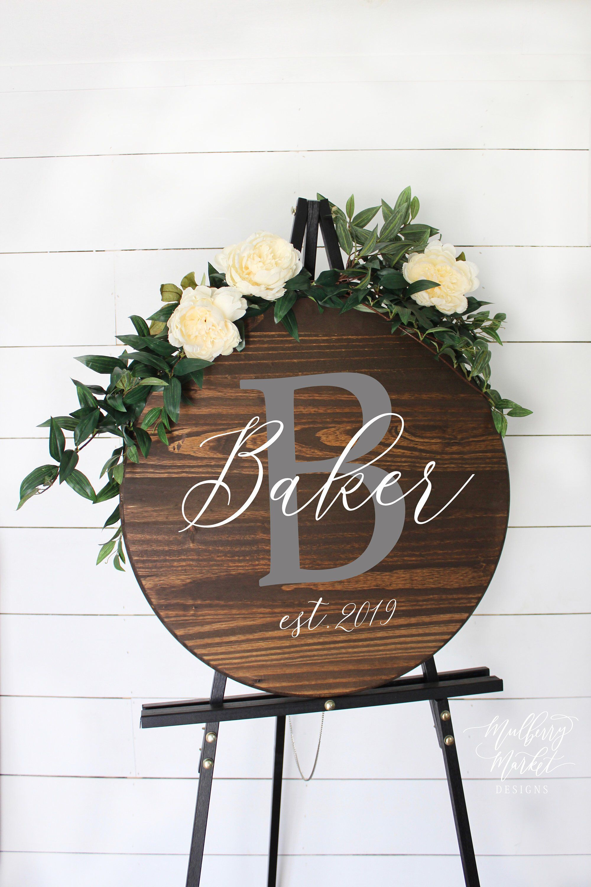 40+ Rustic wedding signs with name info
