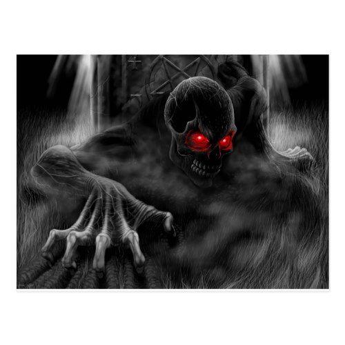 Halloween Scary Postcard Zazzle Com In 2021 Scary Wallpaper Skull Wallpaper Horror Skull Dangerous ghost wallpaper hd download