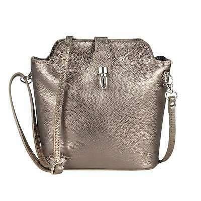Photo of Ital Women's Genuine Leather Bag Shoulder Bag Shoulder Bag Crossbody Metallic Bag  | eBay