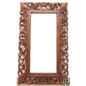 bali frame mirror wood carvings