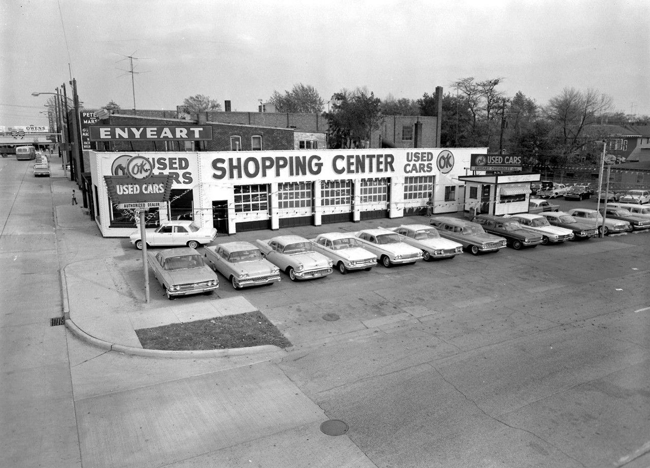 Charming 1963 Enyeart Chevrolet Dealership, Michigan City, Indiana