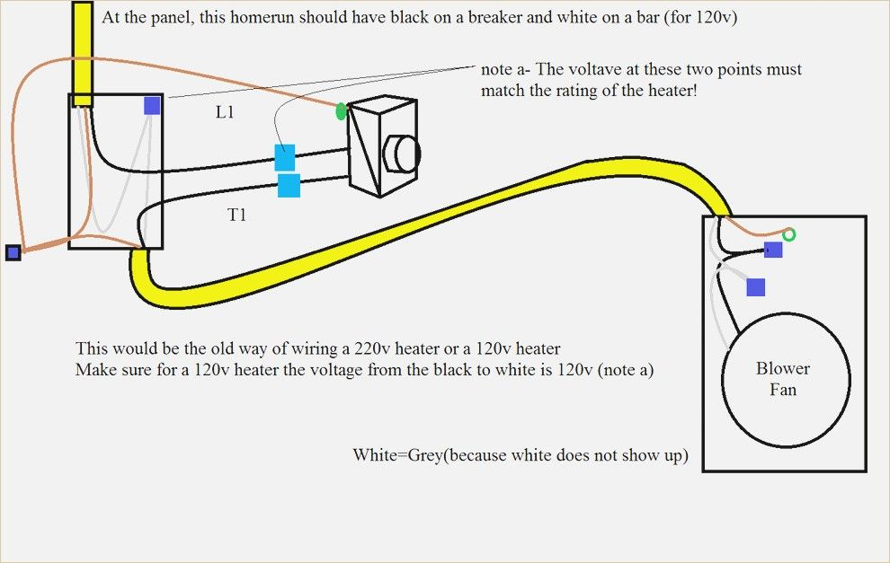 New Wiring Diagram For 240v Baseboard Heater Wired Basement For