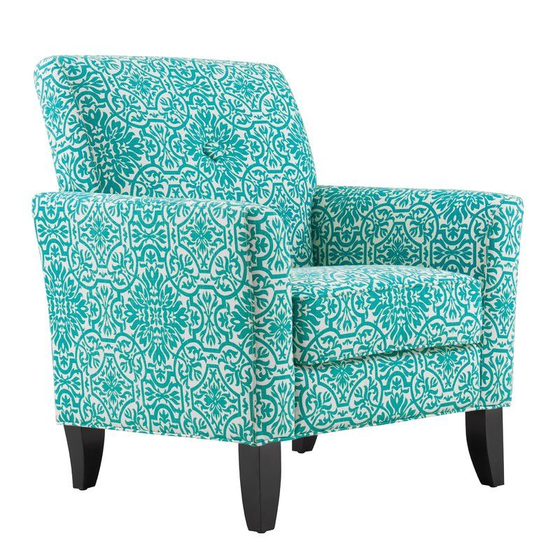 Bungalow Rose Deer Trail Armchair Reviews Wayfair Blue Armchair Turquoise Chair Handy Living